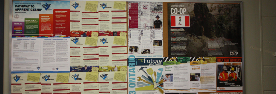 Bulletin Board with Cooperative Education information